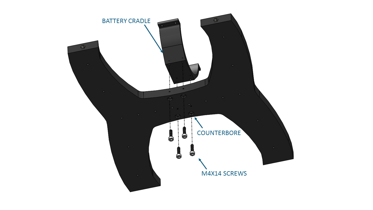 Bluerov2 Assembly Mins Marine Wiring Diagrams Be Sure That The Screw Head Is In Counterbore Bottom Panel Only Counterbored On One Side Tighten Screws Until You Can Feel Them Start To
