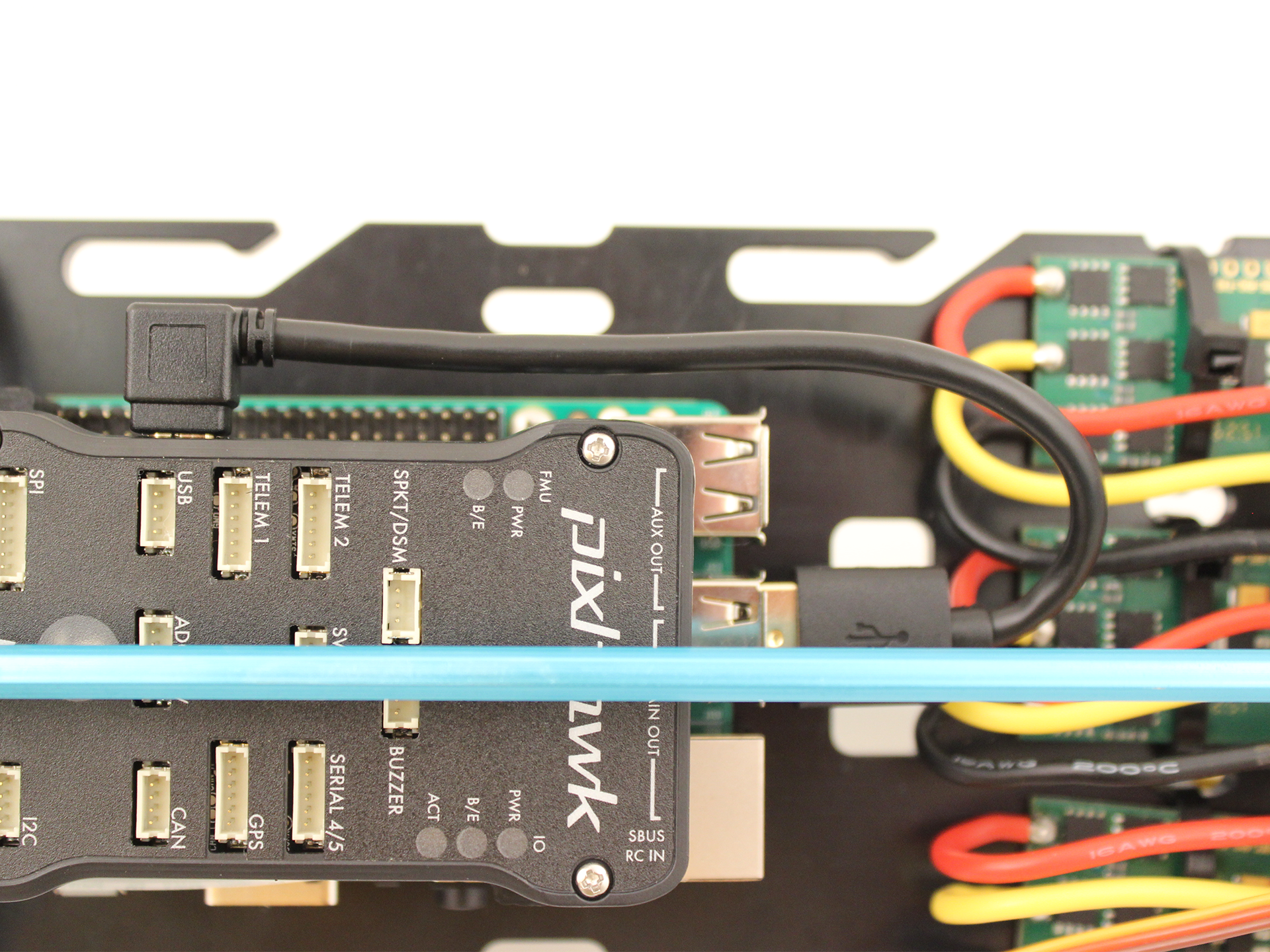 Bluerov2 Kit Assembly Pre March 2017 Wiring Usb Connector Connect The Cable To Pixhawk And Raspberry Pi As Shown