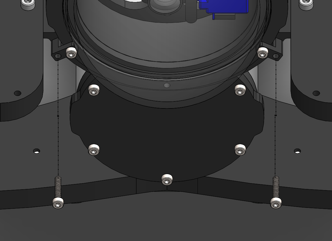 Newton Gripper Push The Meter Into Black Mounting Flange From Back Until It To Bluerov2 Frame