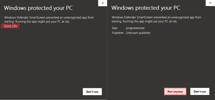 Windows protected your PC screen
