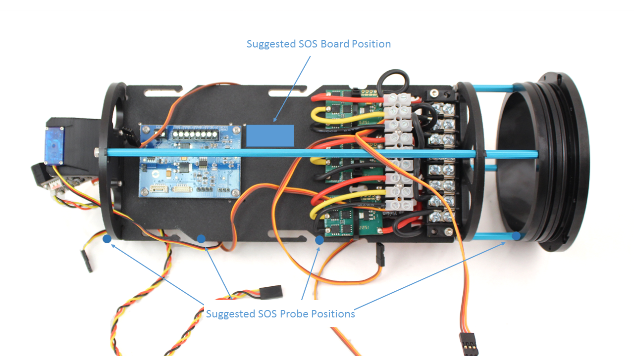 Sos Leak Sensor Documentation Power Supply White Glue On Circuit Board Electrical Engineering Cut To Size And Use The Included Double Sided Foam Tape Secure In A Convenient Location Your Bluerov2 Electronics Tray